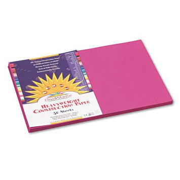 SunWorks Construction Paper, 58 lbs, 12 x 18, Magenta, 50 Sheets/Pack