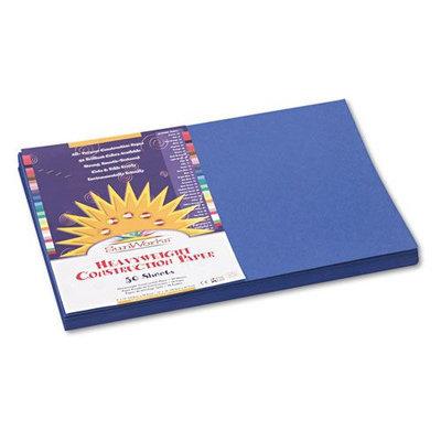 Sunworks 12 x 18 Dark Blue Groundwood Construction Paper
