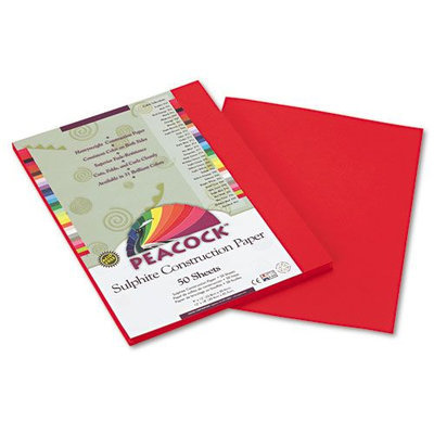 Pacon Peacock Heavyweight Construction Paper, Holiday Red