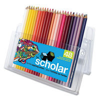 Prismacolor Scholar Colored Woodcase Pencils, Assorted, 48pk