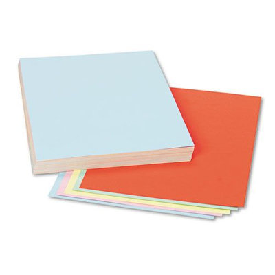 Pacon Assorted Colors Tagboard, 12 x 9, Blue/Canary/Green/Orange/Pink, 100/Pack