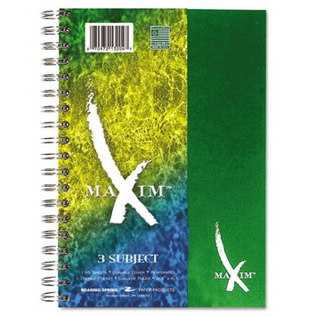 Roaring Spring Paper Products 13204 Maxim Three Subject Notebook - 12 Notebooks Per Package