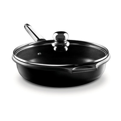 M Block M. Block F10-TA30 12 in. Saute Pan with Removable Handle - Stainless Steel