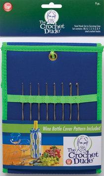 Wm E Wright Ltd. Prt. Crochet Dude Steel Hook Set -Includes Sizes 00,0,1,2,4,6,8 & 9