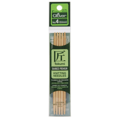 Clover Bamboo Double Point Knitting Needles 5