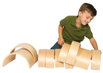 Guidecraft Arches and Tunnels Building Set and Block