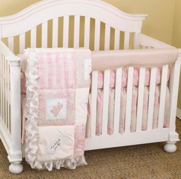 Cotton Tale Designs Heaven Sent Girl Front Crib Rail Cover Up Set