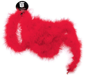 Zucker Feather Products H18-RED Marabou Feather Boa Medium Weight 72
