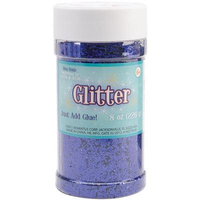 Advantus Glitter Shaker 8 Ounces-Royal Blue