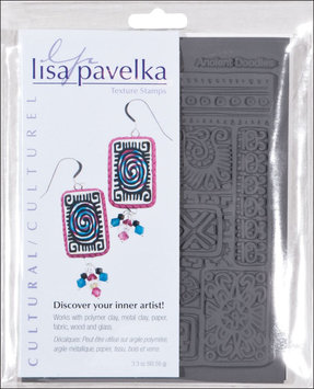 JHB 462879 Lisa Pavelka Stamp Set 4.25 in. x 5.5 in. Sheets 2-Pkg-Cultural-Ancient Doodles & Ethnic Border