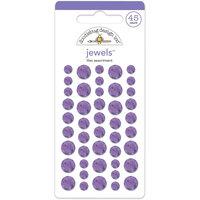 Doodlebug Adhesive Jewels 45/Pkg-Lilac