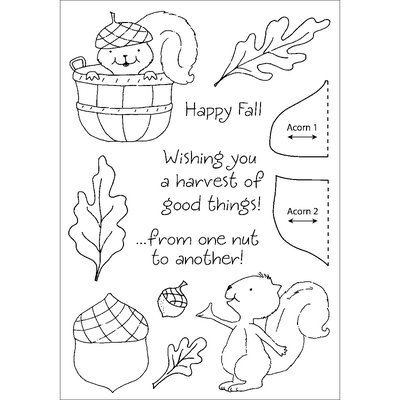 Stampers Anonymous Honeypop Clear Stamp Set-Squirrel