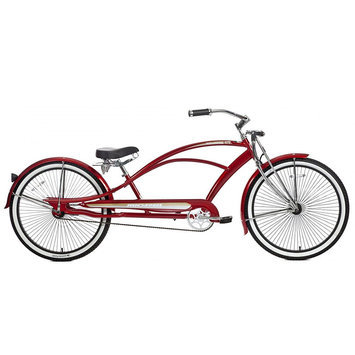 Micargi Red Mustang GTS Beach Cruiser - WARD INTERNATIONAL TRADING INC.