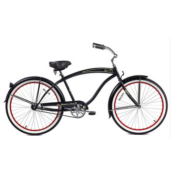 Micargi Matte Black Rover GX Beach Cruiser Male