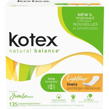Kotex Lightdays Long Unscented Pantiliners - KIMBERLY-CLARK/HOUSEHOLD PRODUCTS DIV.