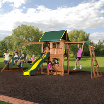 Leisure Time Products Prairie Ridge All Cedar Swingset