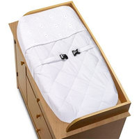 Sweet Jojo Designs Eyelet White Collection Changing Pad Cover