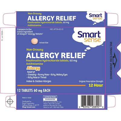 Smart Sense Fexofenadine Tablets 60 mg