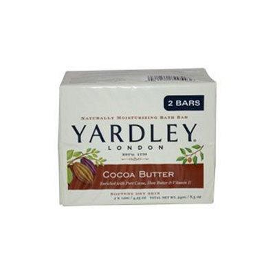 Yardley Of London Inc. Bar Soap, Cocoa Butter, 2 - 4.25 oz (120 g) [8.5 oz (241 g)]