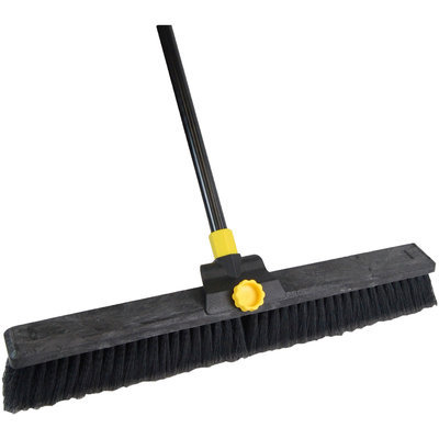 Quickie Mfg Super Bulldozer 24 Inch Soft Sweep Pushbroom 00633 by Quickie