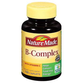 Pharmavite B-Complex, with Vitamin C, Caplets, 100 caplets