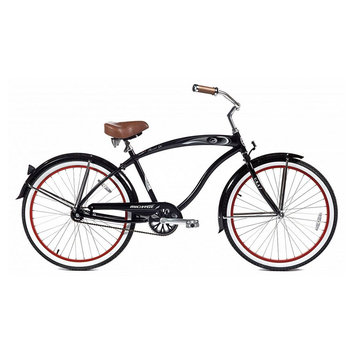 Micargi Black Rover 24 Beach Cruiser Male - WARD INTERNATIONAL TRADING INC.