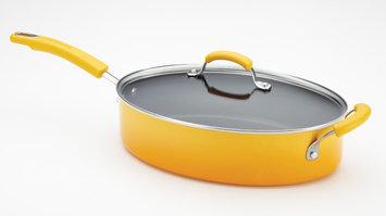 Rachael Ray 5-Quart Covered Saute Pan with Helper Handle Yellow