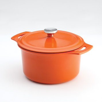 Meyer Corp. Rachael Ray Cast Iron 5 qt. Covered Round Casserole - Orange