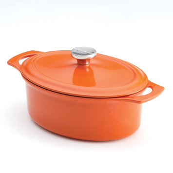 Meyer Corp. Rachael Ray Orange Cast Iron Covered Casserole