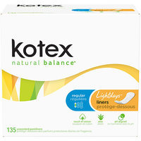 Kotex Natural Balance Lightdays Liners - KIMBERLY-CLARK/HOUSEHOLD PRODUCTS DIV.