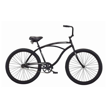 David Shaw Silverware Na Ltd Micargi Bicycles Touch Beach Cruiser Bike - Matte Black