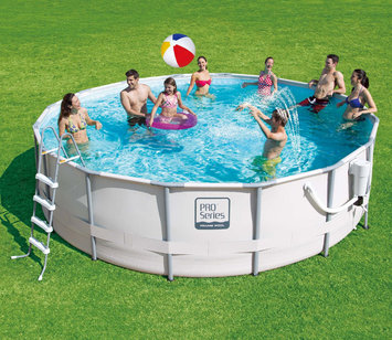 Summer Escapes 16-ft x 16-ft Above-Ground Pool LW-PS20-1648-B-PW-PB