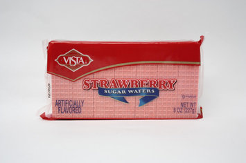 Vista Bakery, Inc. Strawberry Sugar Wafers 8 oz