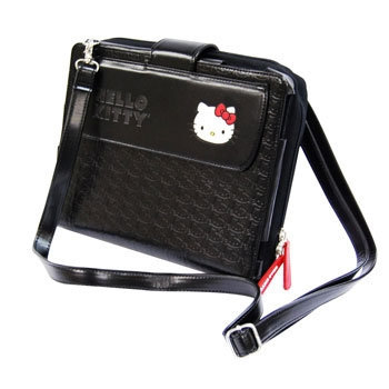 Hello Kitty iPad Messenger Bag - Black (KT4348B)