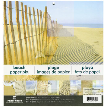 Paper House Double-Sided Paper Pad 12X12 12/Pkg-Beach