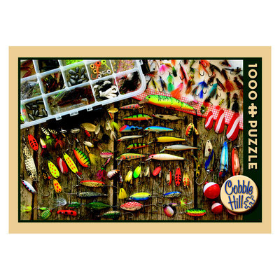 Outset Media Fishing Lures Jigsaw Puzzle: 1000 Pcs