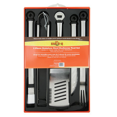 Mr. Bar-B-Q 5-Piece Stainless Steel Tool Set