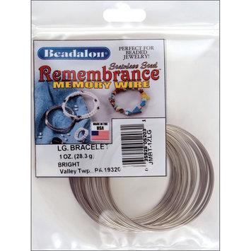 Beadalon JMBT1ZLG Memory Wire Bracelet-Large Bright