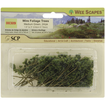 Scp Medium Green Wire Foliage Trees - 24 Pack
