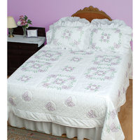 Jack Dempsey Butterflies Stamped White Quilt Top