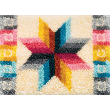 M.c.g. Textile, Inc. Latch Hook Kit 27 X20 -Quilted Star