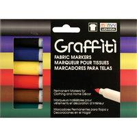 Uchida 560-6A Graffiti Fabric Marker 6-Pkg-Primary