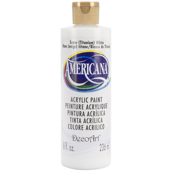 DecoArt Americana Acrylic Paints snow white 8 oz.