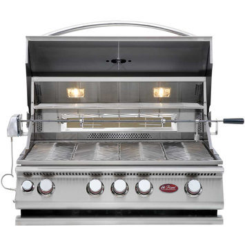 Cal Flame 4-Burner Stainless Steel Convection Grill with Rotisserie