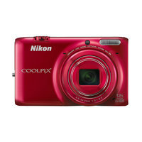 Nikon - Coolpix S6500 160-Megapixel Digital Camera - Red