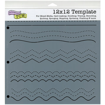 The Crafters Workshop Crafters Workshop 12x12 Scrapbook Template - Flurries