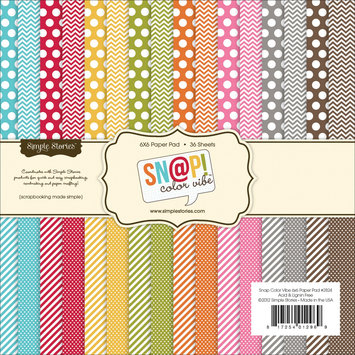 Simple Stories Sn@p! Color Vibe Collection Paper Pad 6
