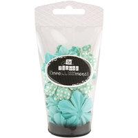 Prima Marketing, Inc. Prima Flowers Petal Palette Handmade Paper Flowers 36-piece - Aqua