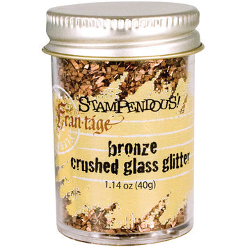 Stampendous Glass Glitter 1 Ounce-Bronze