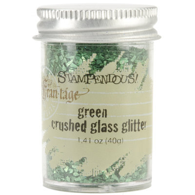 Stampendous Inc Stampendous Glass Glitter 1 Ounce Green